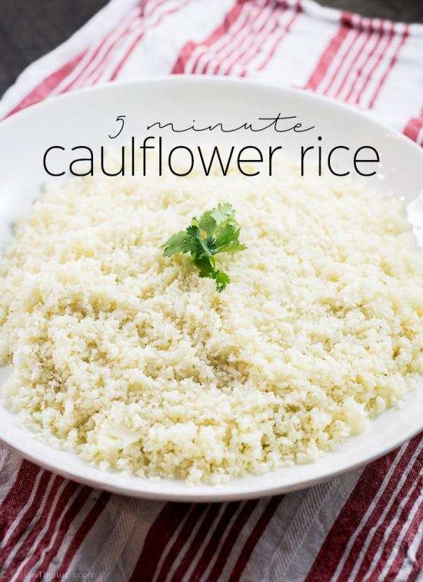 5 minute cauliflower rice | Follow the Ruels
