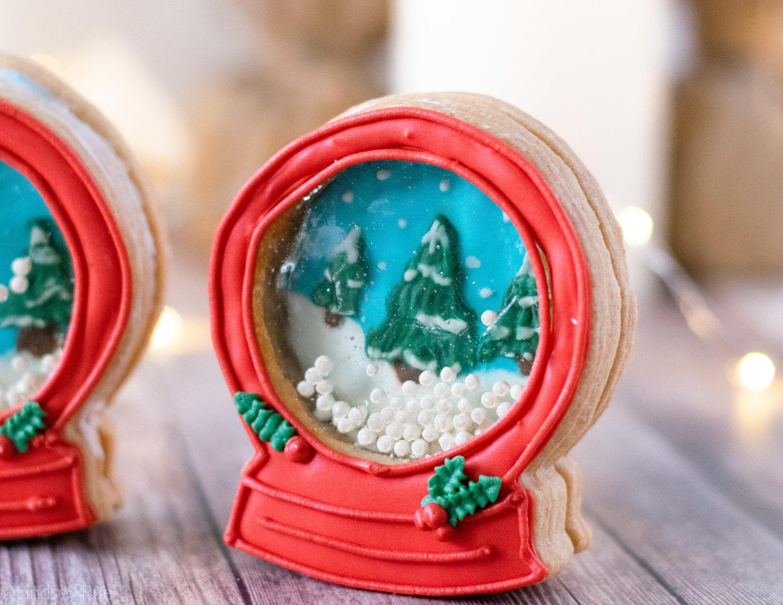 Snow Globe Cookies Honey Blonde
