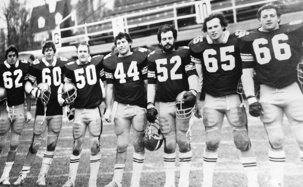 1980 Offensive Line - Dave Upton, Brent Walker, Mike Ried,Warner Myles, John Hennessy