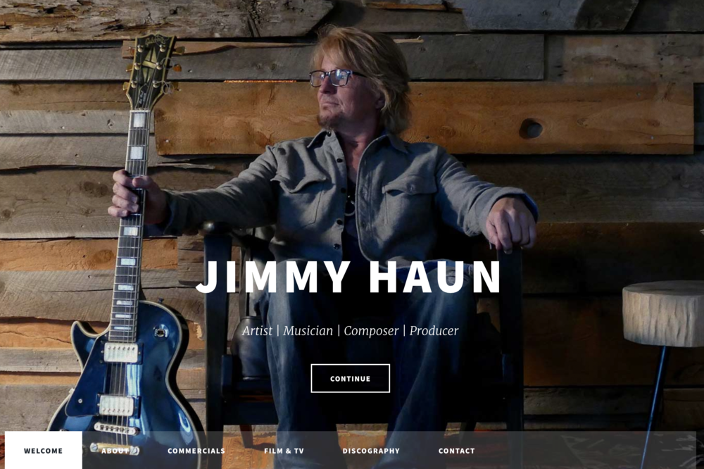 Concept Theory Website Design for Jimmy Haun