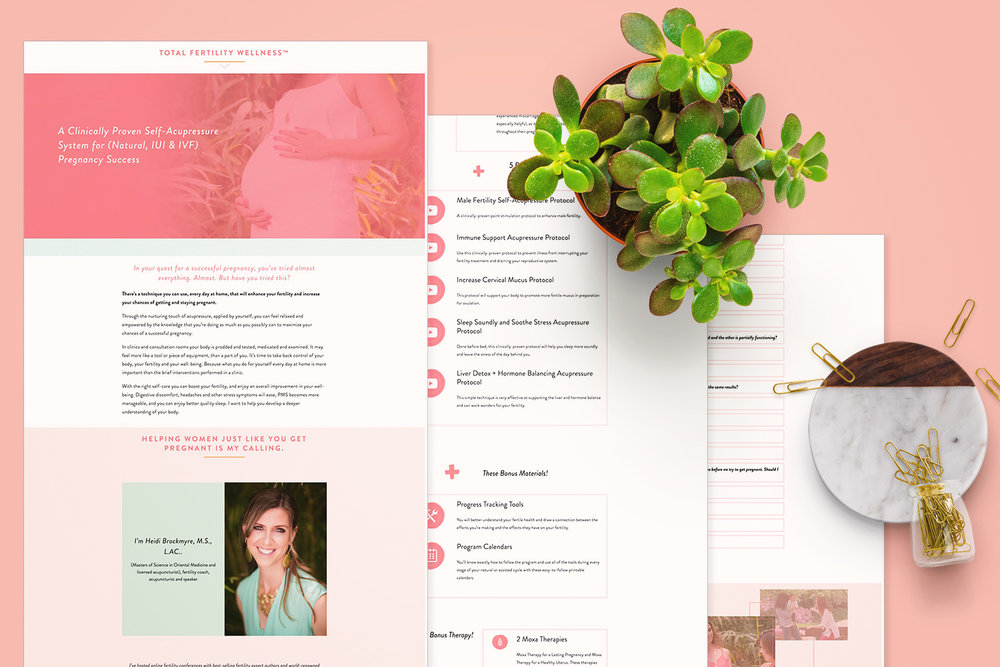 Sales page web design by Jodi Neufeld Design