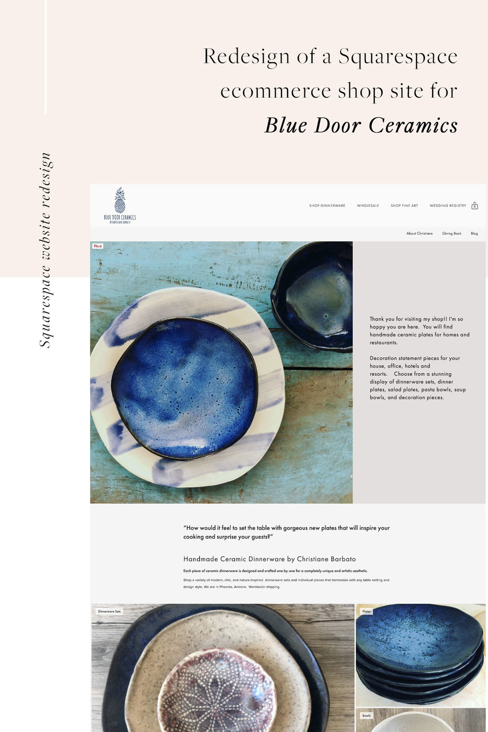 Squarespace website redesign for a ceramics shop | by Jodi Neufeld Design