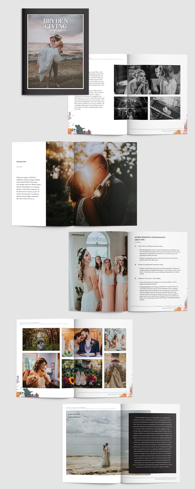 Wedding magazine design for a photographer | Jodi Neufeld Design