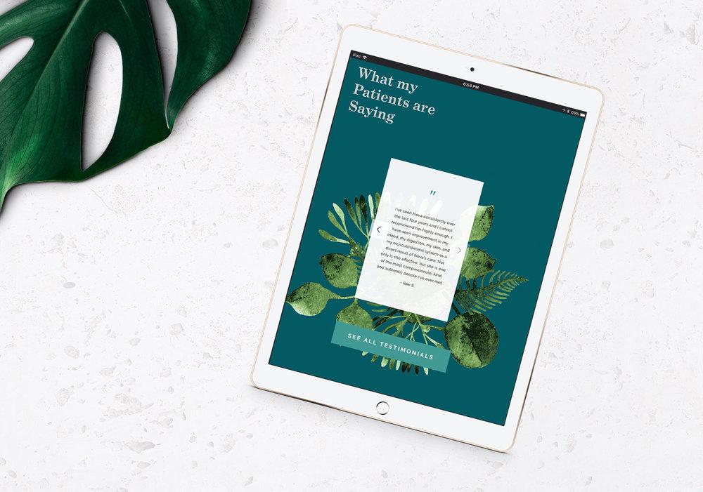Neva Healer testimonials section ipad - marble background.jpg