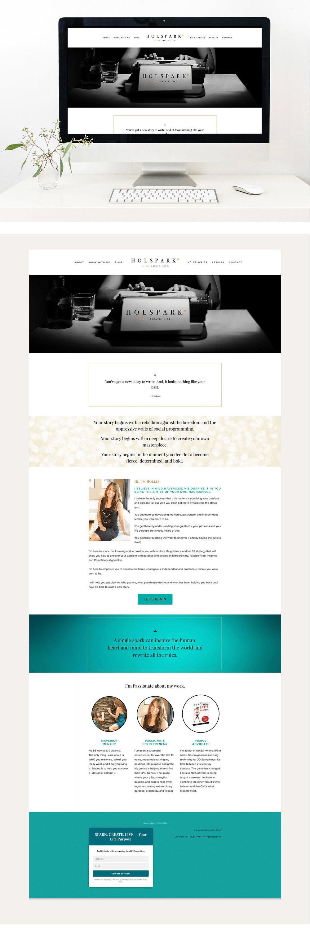 HOLSPARK web design | Squarespace web design | Jodi Neufeld Design