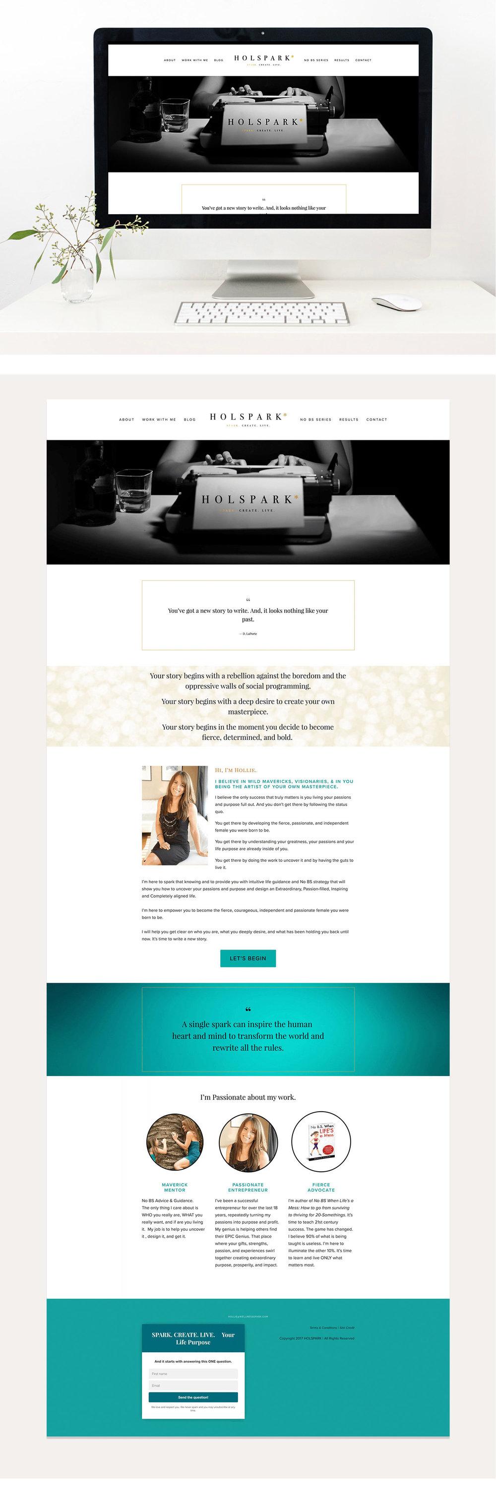 HOLSPARK Home page | Squarespace Web design | Jodi Neufeld Design
