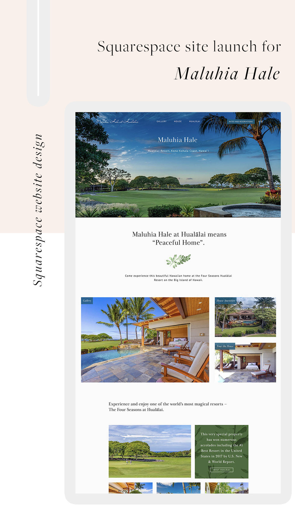 Home page - Maluhia Hale | Luxury Vacation Rental website