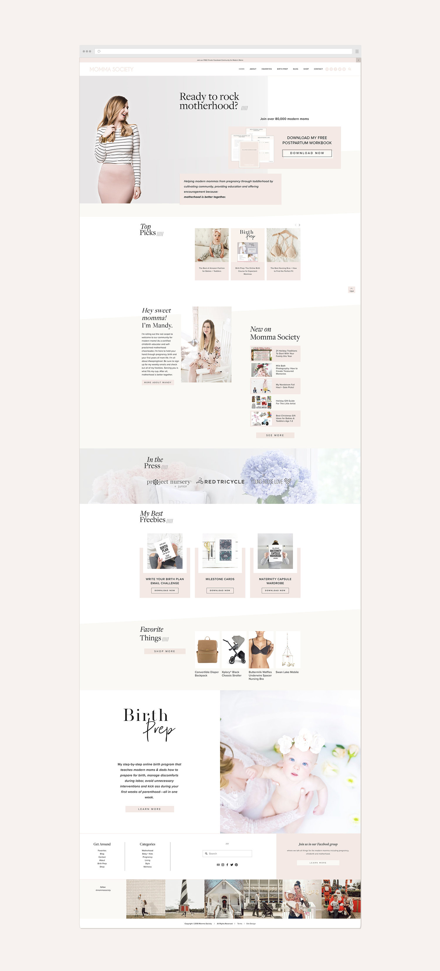 84df987a3ec Momma Society Squarespace website design — Squarespace Web Design ...