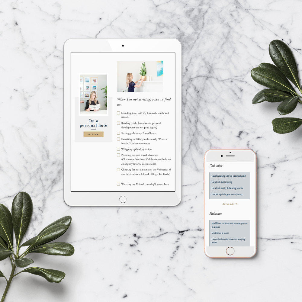 Brittney Rankin marble and iphone flatlay with plants.jpg