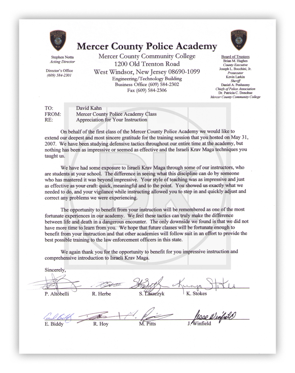 Mercer County Police Academy