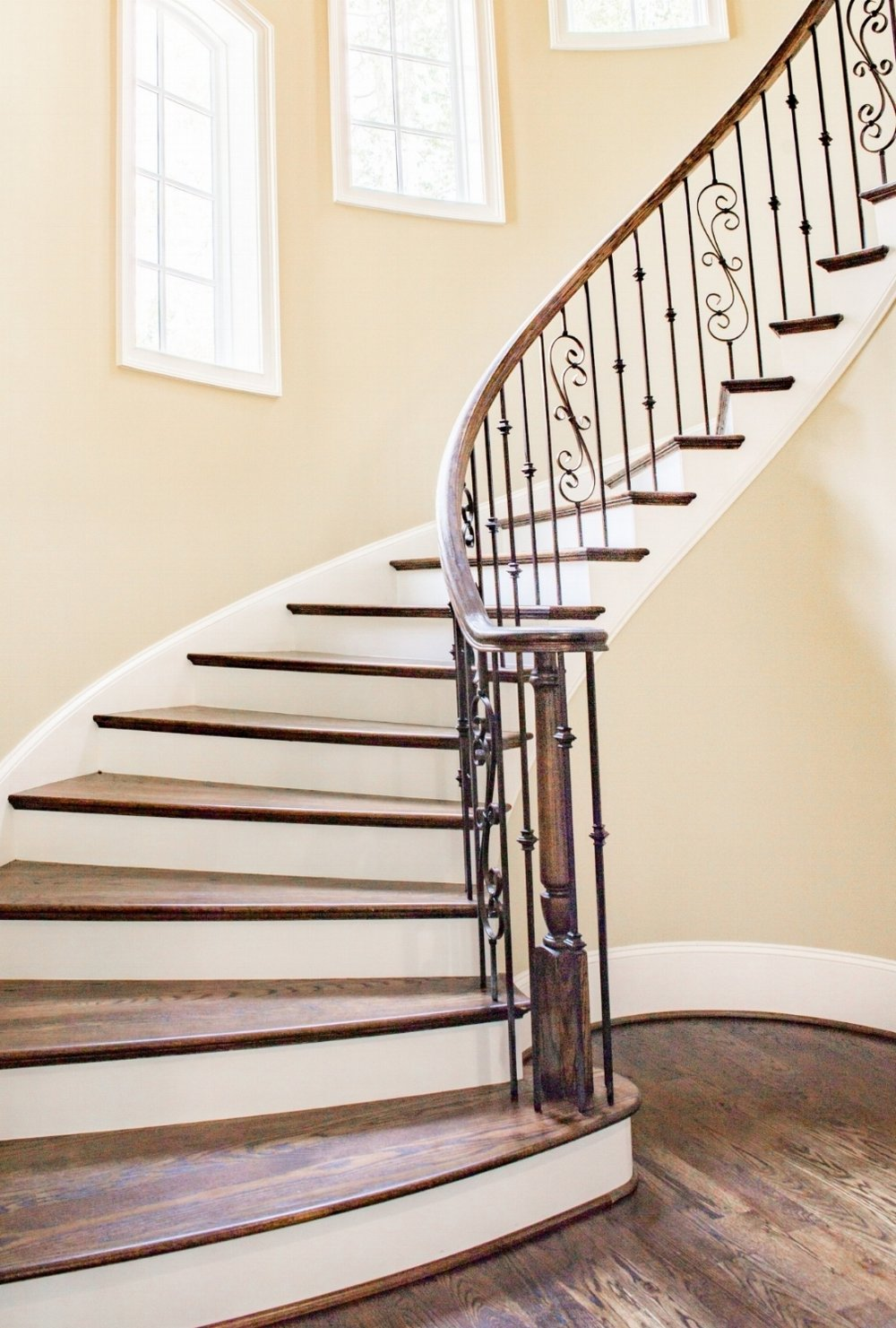 Stairs Renovation - Covering all types of stairs renovation; from carpet to solidwood, re-staining, re-newing, or even re-construction. We would be happy to offer a free estimate for your project!