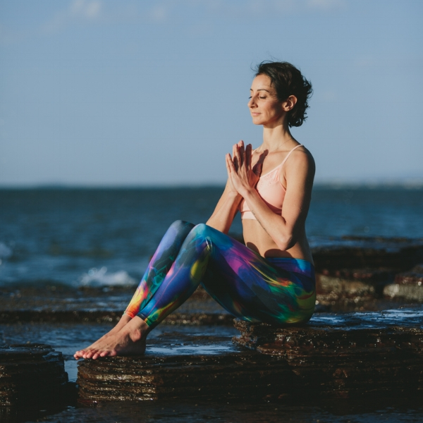 Meditation by the ocean