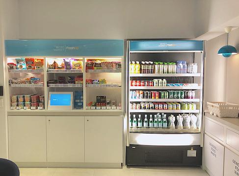 Fresh Up, micromarket, self-served, snacks, beverages, fresh food, smart, office