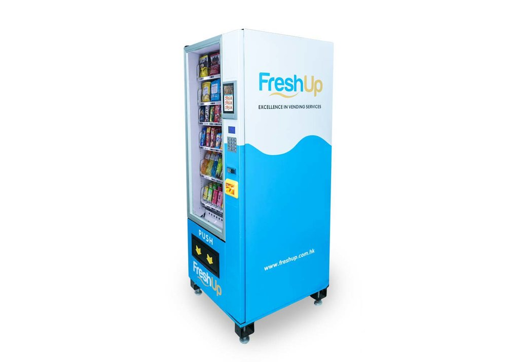 """FreshUp, vending machine, snacks, beverages, smart, LCD, 7"""" Touch LCD"""
