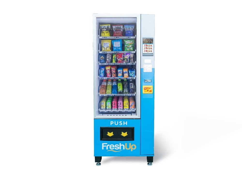 "FreshUp, vending machine hong kong, smart vending machine hong kong, LCD 7"" vending machine, Touchscreen vending machine"