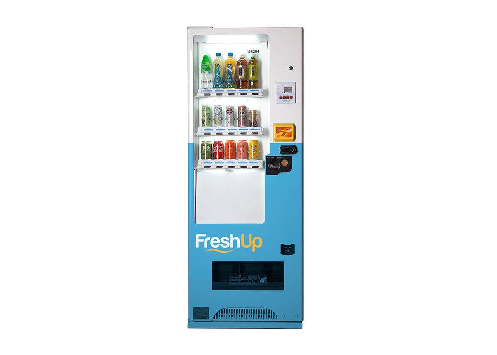 FreshUp,15 SKU 自動售賣機,自動販賣機,飲品機,香港自動販賣機, 智能汽水機