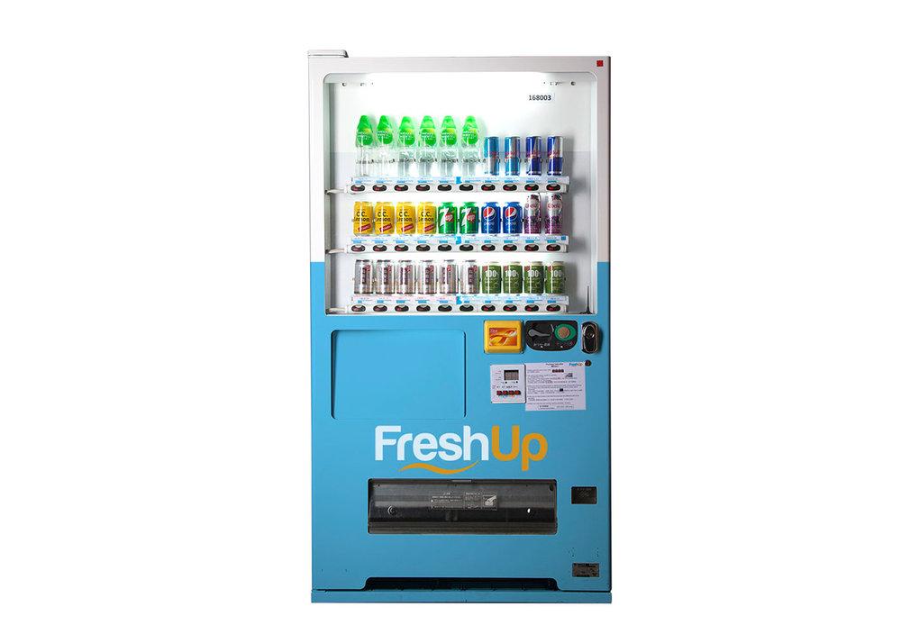 FreshUp,30 SKU 自動售賣機,自動販賣機,飲品機,香港自動販賣機, 智能汽水機