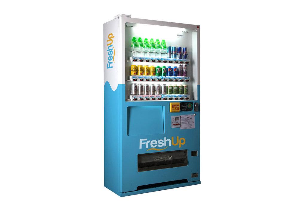 FreshUp,30 SKU 自動售賣機,自動販賣機,飲品機,零食,飲品,方便,快捷,智能