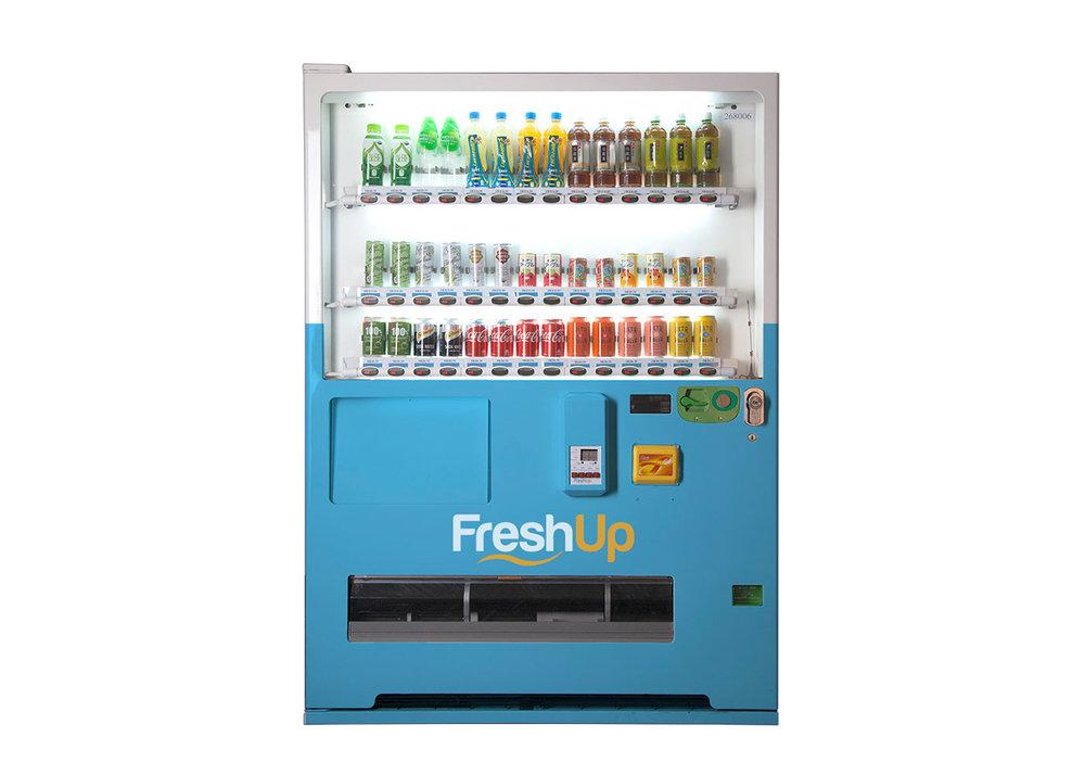 FreshUp, drinks, vending machine hong kong, beverages, fast, convenient, smart vending machine hong kong, freshup vending machine, 42sku vending