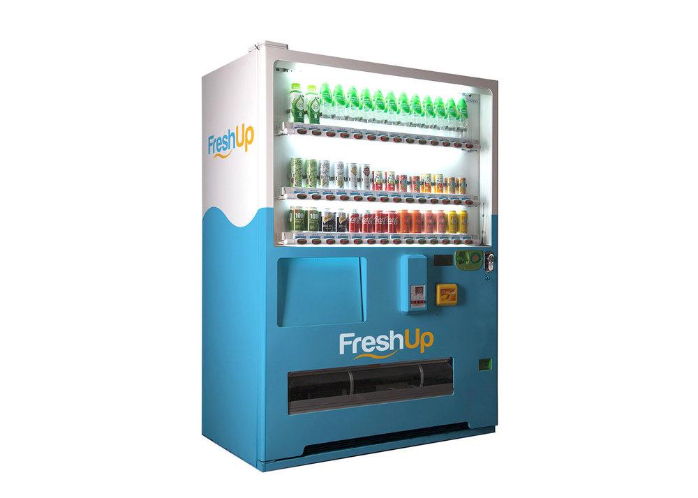 FreshUp,42 SKU 自動售賣機,自動販賣機,飲品機,香港自動販賣機, 智能汽水機