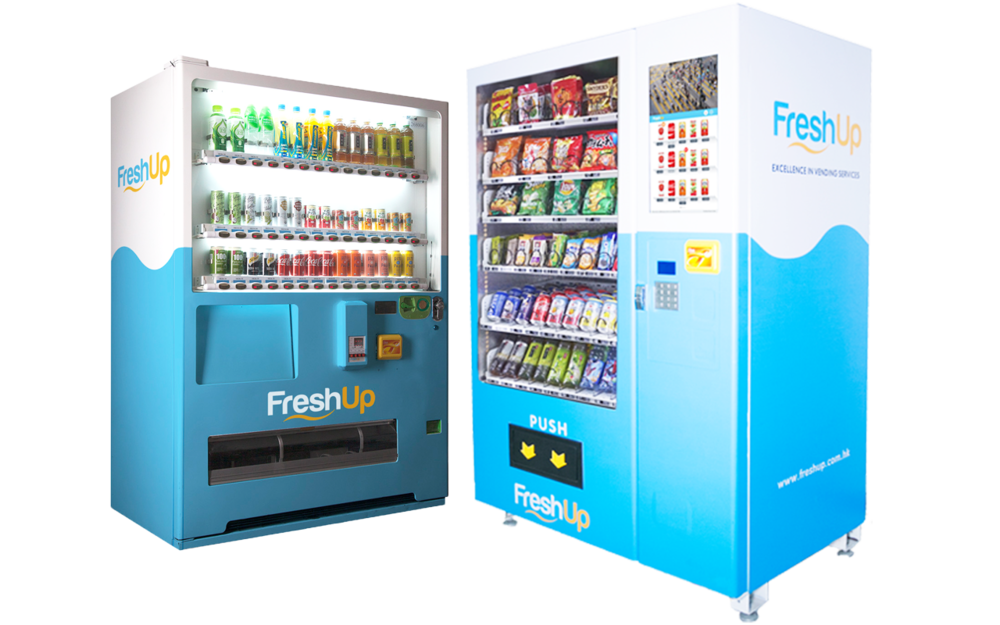 vending machine, FreshUp, beverage, snacks