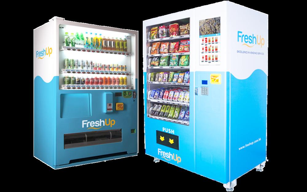 vending machine, vending machine hong kong, FreshUp, hong kong, smart vending machines hong kong, beverage, snacks