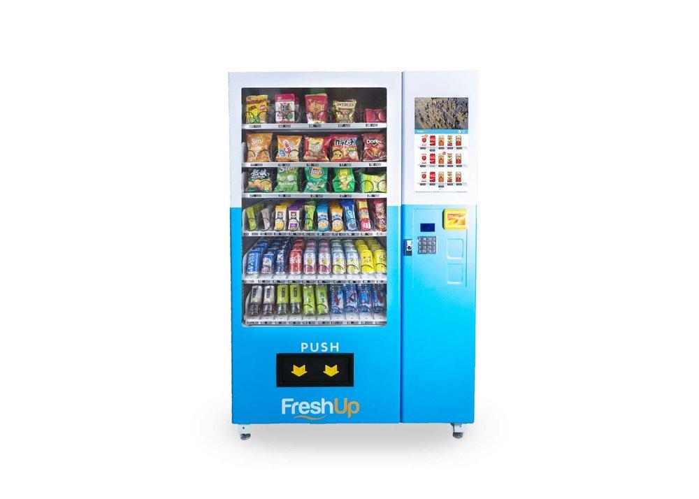 "FreshUp, vending machine hong kong, smart vending machine hong kong, LCD 22"" vending machine, Touchscreen vending machine hong kong"