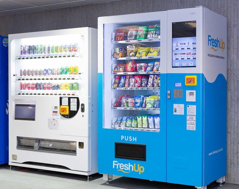 FreshUp Vending Machine, Hong Kong Vending Machine, Smart Vending Machine Hong Kong, 22 inch screen vending machine