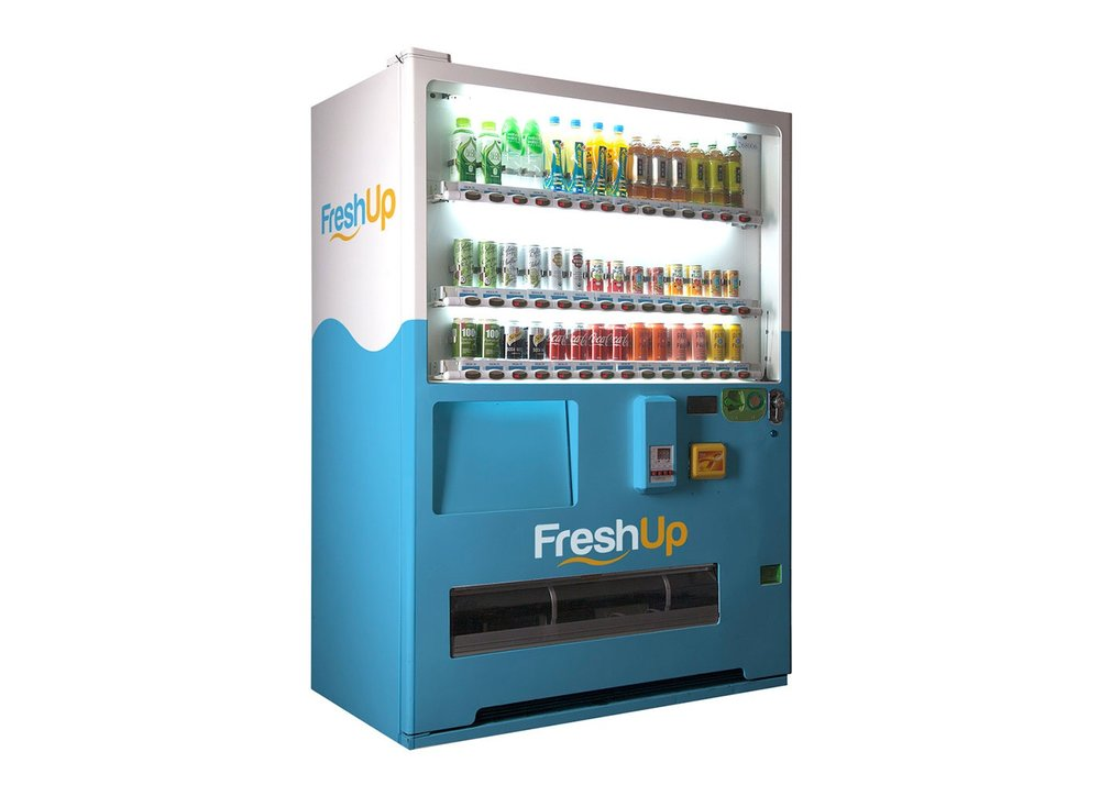 FreshUp, drinks, vending machine, beverages, fast, convenient, smart