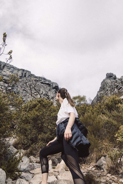 """die route - Es gibt eine Menge Wanderwege, die den Tafelberg hinauf führen. Da wir keine Profis im Gebiet des Wanderns sind entschieden wir uns für die beliebteste: Die Route durch die Platteklip Schlucht(""""Platteklip Gorge"""")."""
