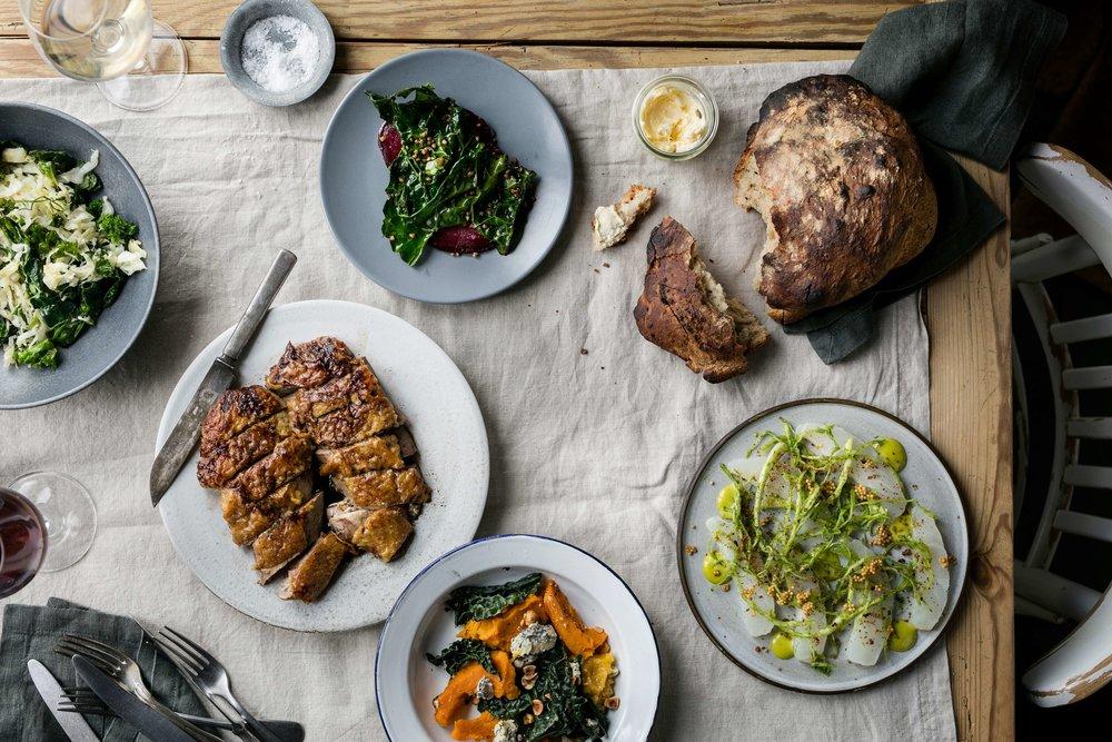 Rødders bord med and   grønt 2.jpg