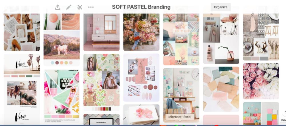 Soft Pastel Branding on Pinterest by Haskin Creatives
