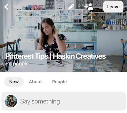 Pinterest Tips Community by Haskin Creatives