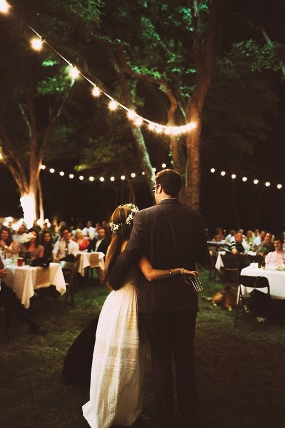 A Dreamy Backyard Wedding via Huffpost