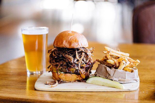CRAVING that Crispy Onion Stacked Burger!?!? Come get yours today!! 🤗😋🤗Website: Btrestaurantandtavern.com  Location: 2031 US-130, Burlington, NJ 08016 Phone: (609) 499-1355 Order Online: slicelife.com/restaurants/nj/burlington/08016/bt-restaurant-tavern/menu