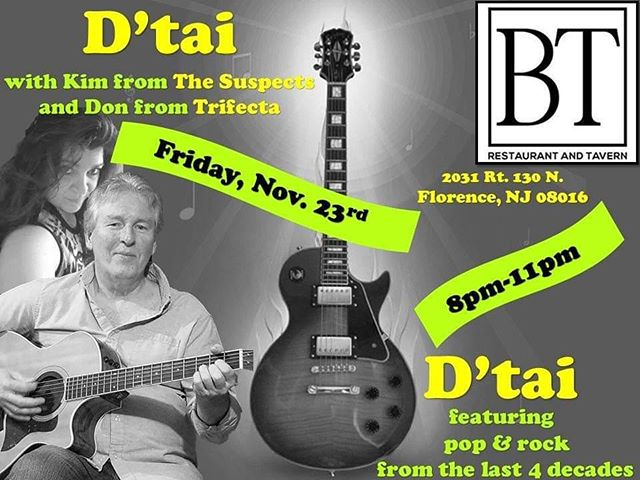 Join us tonight live entertainment by D'tai starting at 8pm @btrestaurant_tavern!! #LiveMusic #Band #FridayNight #Music #Entertainment