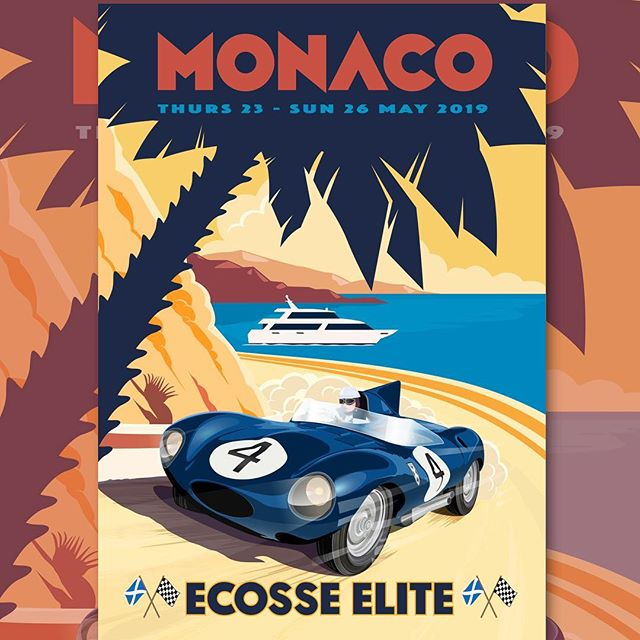 All the #glamour - new #corporateidentity for @ecosseelite follow them for the ultimate in #Scottish #hospitality at the 2019 #MonacoGrandPrix #MonteCarlo #Superyacht #F1 #graphicdesign #thinredlinedesign #DamnAllThatEagerness