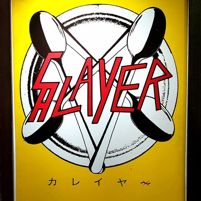 """But of course! It's lunch at your local Slayer-themed curry shop in Osaka with the  Angel of Death"""" spicy option! #slayerband #curry #shinsaibashi #thash #nowineedicecream #osakafood"""