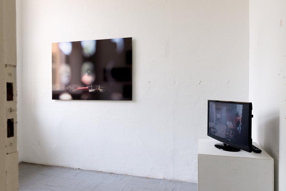Left:  Zoloft I, 2013 by Paula Saraste   Right:  Poem in the Key of Freedom Minor, 2011 by Nathalie Tafelmacher-Magnat  Photo: © Heli Kaskinen