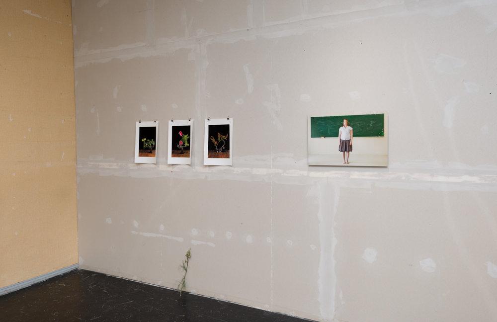 Left:  Study II – IV, 2011 by Antti Huittinen   Right:  Liitutaulu, 2009 by Heli Kaskinen  Photo: © Heli Kaskinen