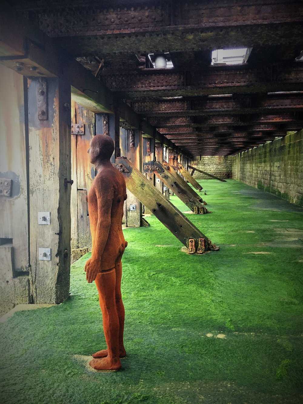 Folkestone Triennal Art - Antony Gormley Another Time XXI 2013 Another Time XVIII 2013