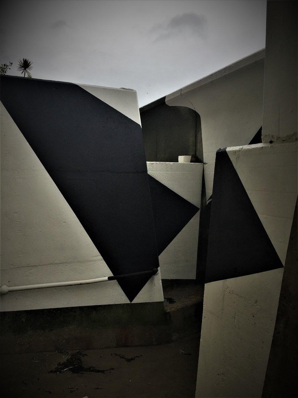 Folkestone Triennal Art - Gary Woodley, Impingement No. 66 'Cube Circumscribed by Tetrahedron