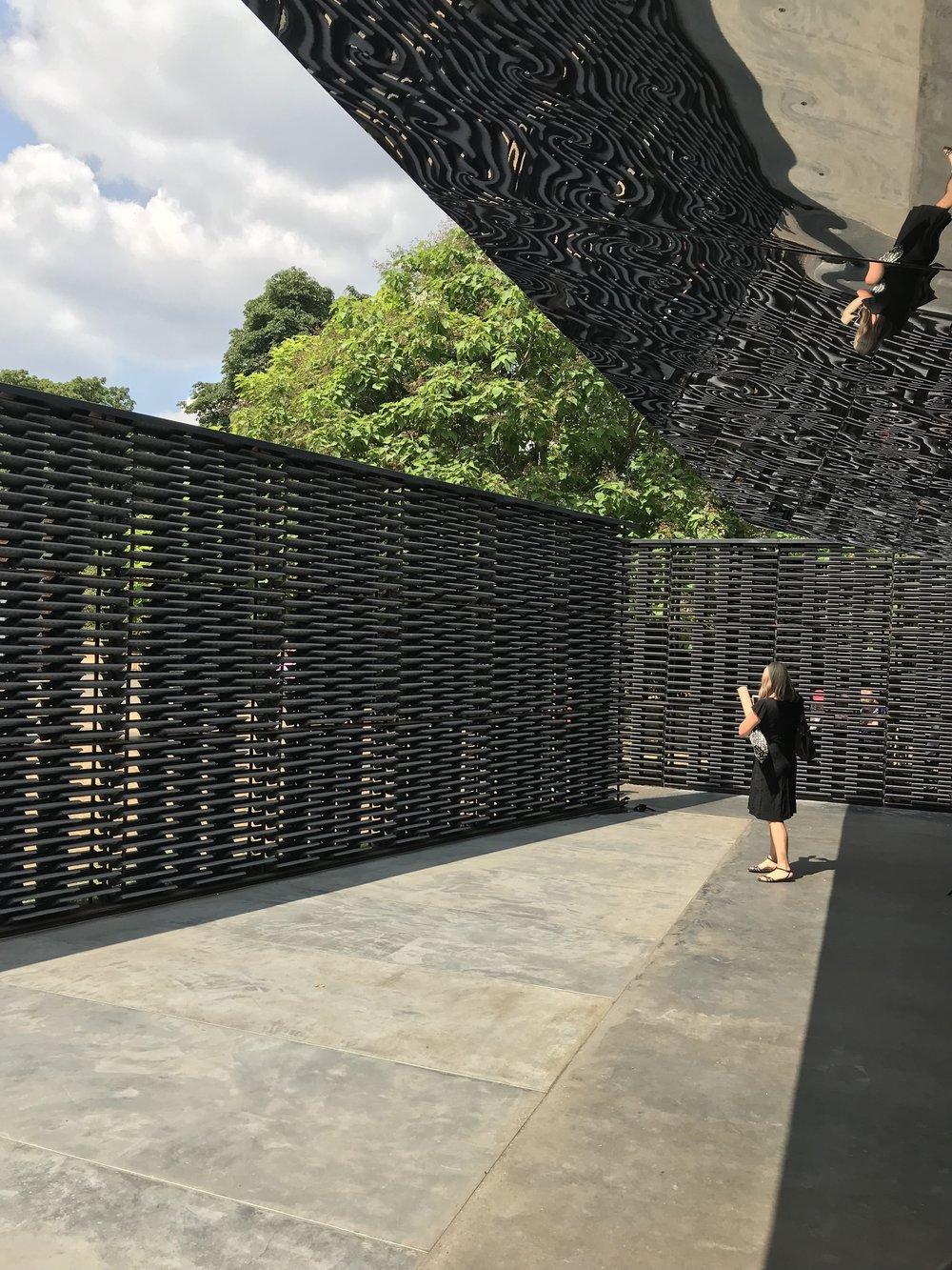 Serpentine Gallery - Summer Pavilion, designed by Architect Frida Escobedo