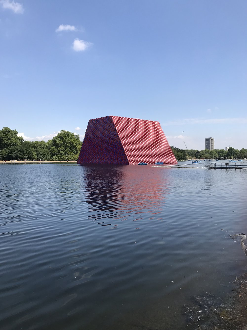 Serpentine Gallery - The London Mastaba By Christo and Jeanne-Claude