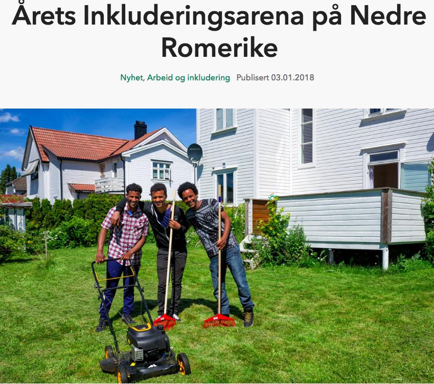 Årets Inkluderingsarena Nedre Romerike - NHO