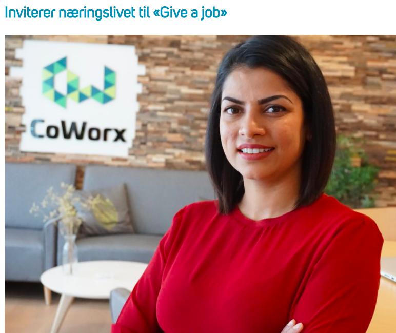 Inviterer næringslivet til Give a Job - Kristiansand