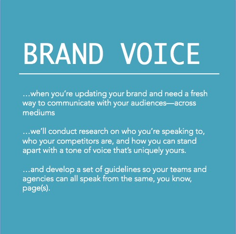 Copy of Brand voice