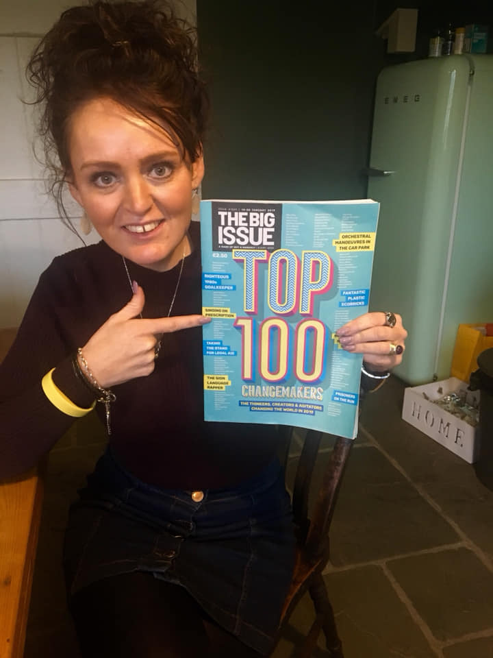 Meg Neilan, founder of Golden Years takes her place as No11 in The Big Issue's 100 world Changemakers for 2019 -