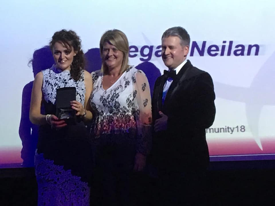 Pride of Northants Community Awards WINNER: Founder of Golden Years, Meg Neilan brings home award for Caring Person of the Year. -