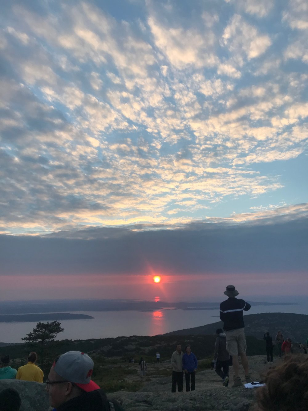 The sunrise from Cadillac Mountain.